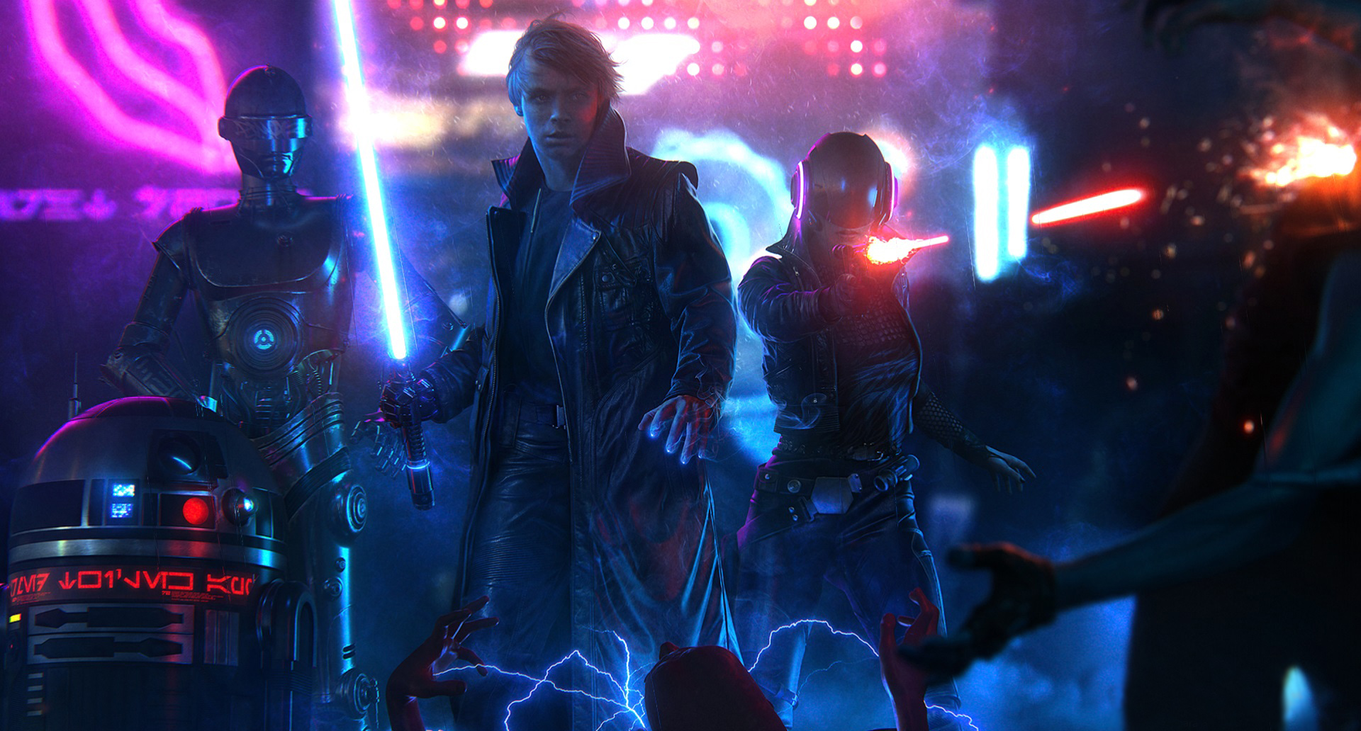 Star Wars Blade Runner Luke Skywalker Animated Wallpaper