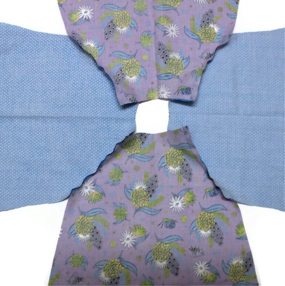 sew sleeves and bodice together