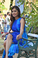 Tamil Actress Sanchita Shetty Latest Pos in Blue Dress at Yenda Thalaiyila Yenna Vekkala Audio Launch  0017.jpg