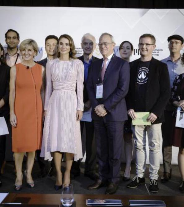Queen Rania presents awards at MIT Solve Challenge Finals in New York