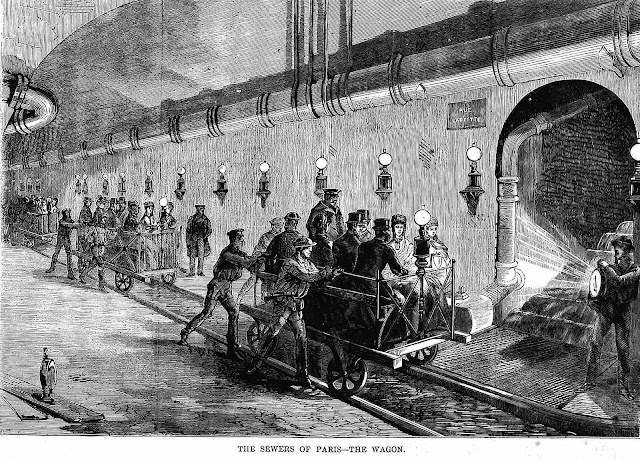 Paris sewers tour 1870 illustration