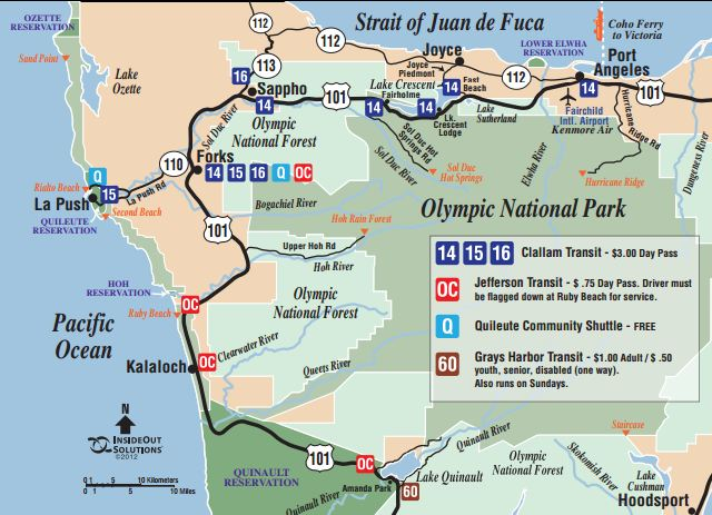 Olympic National Park bus guide