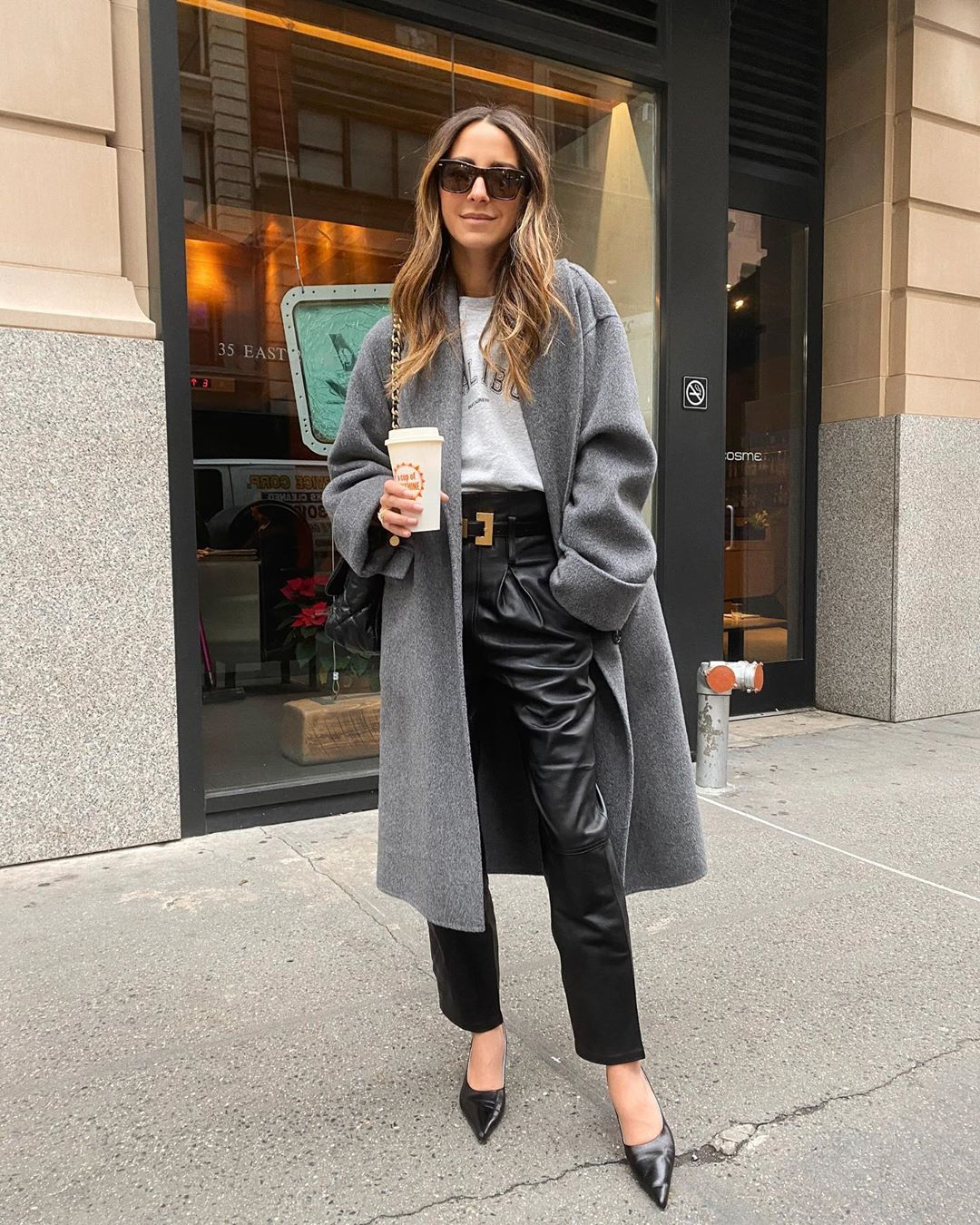 The Easy Way This Influencer Styles Leather Pants