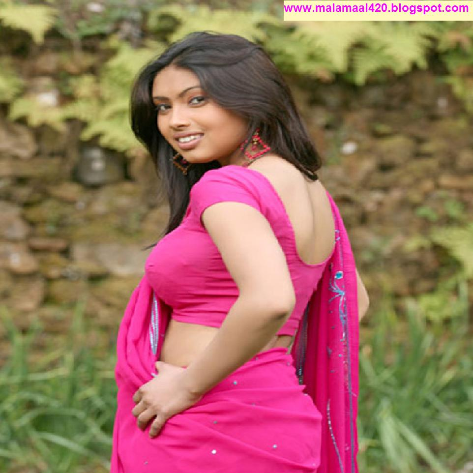 Srijana Mallu Aunty Hot In Pink Blouse Hot Pictures  Hot -6707