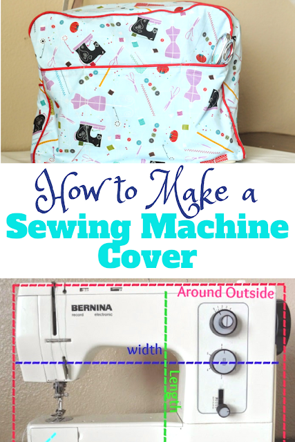 How to make a sewing machine cover. Follow this DIY step by step tutorial to make this easy sewing machine cover that is customize size for your machine.#sewingmachine #sewing #tutorial#quilting