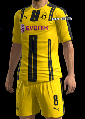 Borrusia Dortmund Home kit 2016-2017