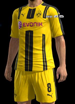 PES 2013 Borussia Dortmund Home kit 2016-2017 by Strex-Kitmaker