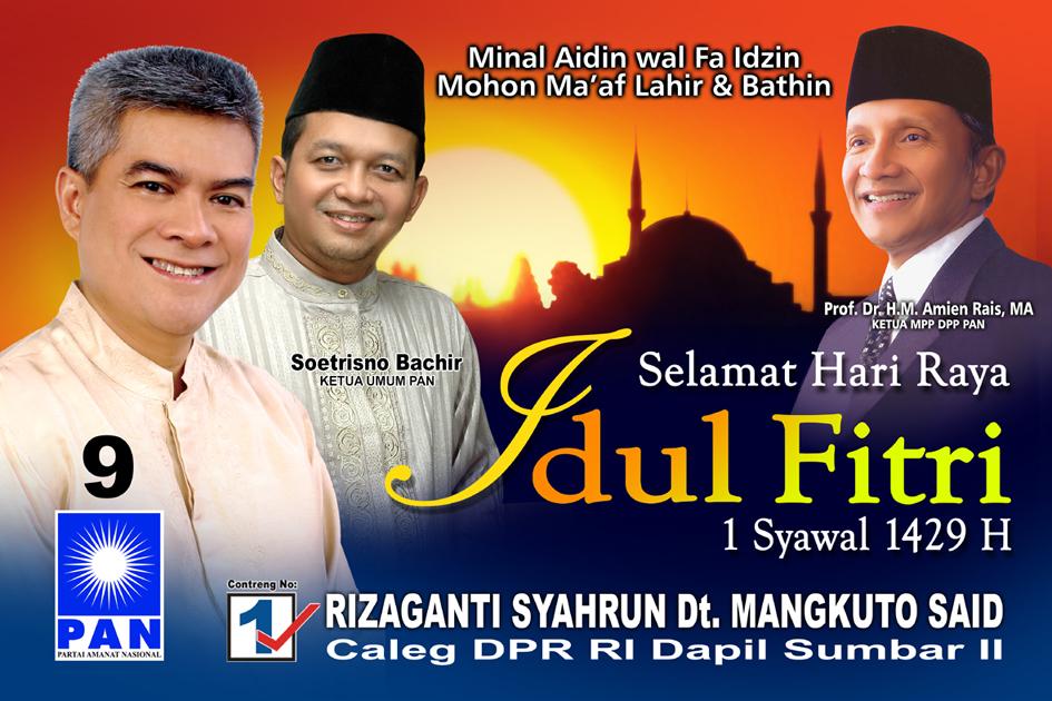 Contoh Desain Baliho Ucapan Selamat Idul Fitri Dari Rizaganti Syahrun