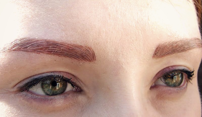 Why having my eyebrows tattooed has made my for Powder eyebrow tattoo