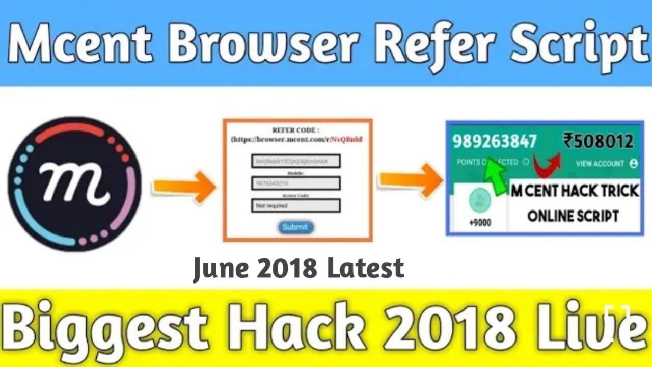 Mcent Browser Online Script Bypass OTP (USA Number Or Indian Number)