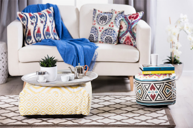 Boho home decor ideas, bohemian living room furniture decorations