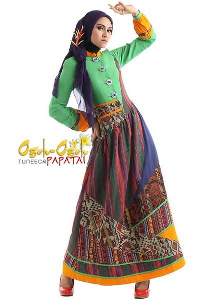 Trend Fashion Anak Muda 2016 Koleksi Baju Muslim Model Etnik Untuk