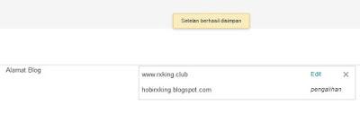 Sukses Custom Domain Blogger