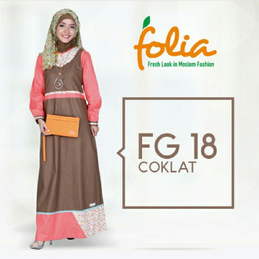 Farah Shop  Folia Fg 18 Gamis Katun