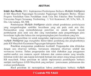 Contoh PTK PAUD