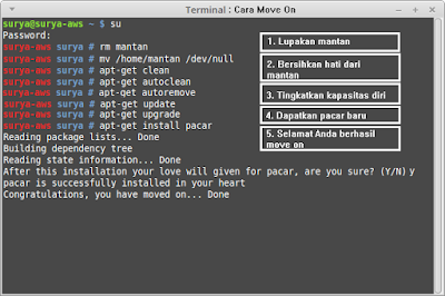 [Just Iseng] 5 langkah Mudah Move On versi Linux Command Line ~ ChemDy
