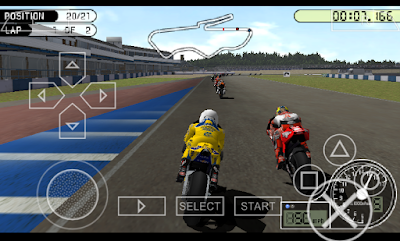 Game Moto GP PPSSPP ISO For Android + Save Data - Android Cups