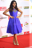 Eesha in Cute Blue Sleevelss Short Frock at Mirchi Music Awards South 2017 ~  Exclusive Celebrities Galleries 069.JPG