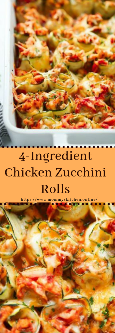 4-Ingredient Chicken Zucchini Rolls #dinner #recipe