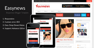 Easy News - Magazine Blogger Template