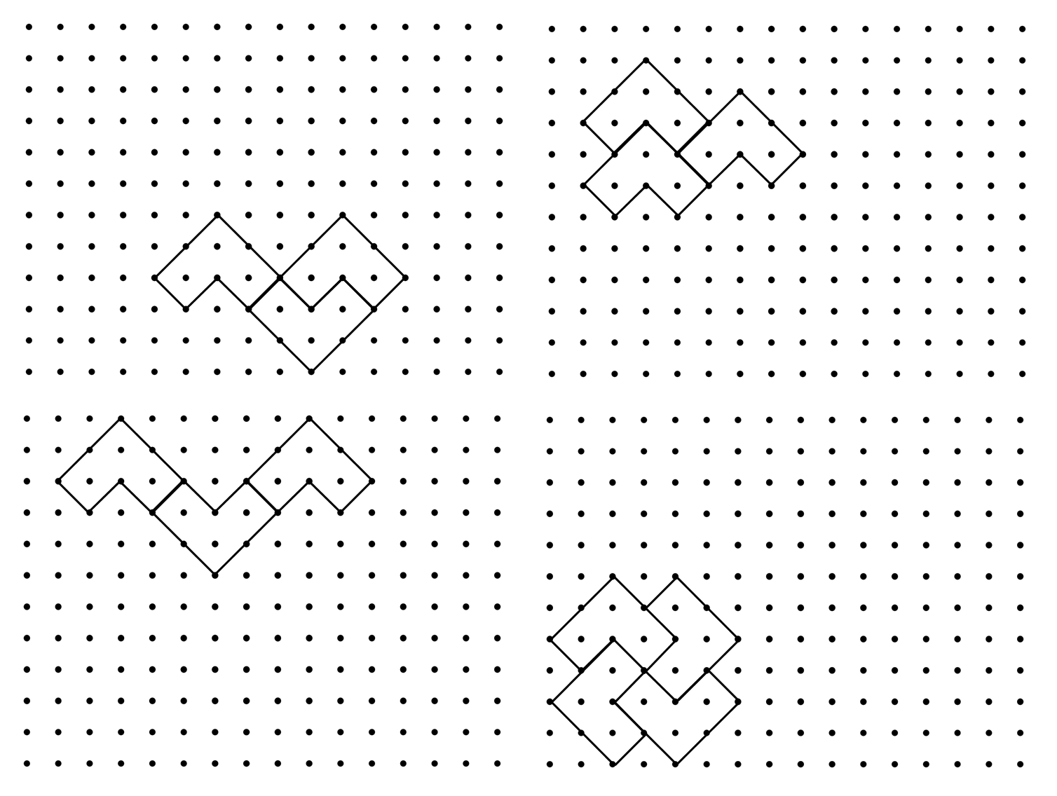 tessellations on graph paper