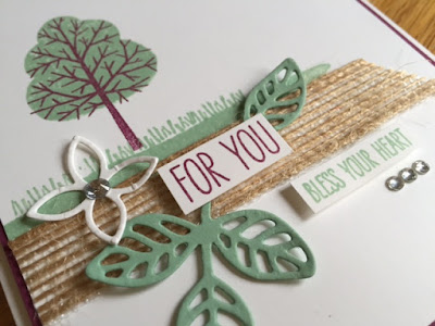 Totally Trees Kerry Timms stampin up handmade card cardmaking class gloucester birthday hobby crafts creative papercraft scrapbooking leaves 2