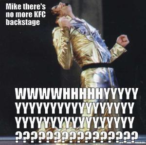 Michael Jackson KFC Backstage Meme