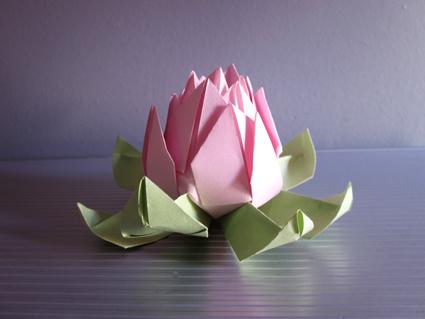 Flor de loto origami