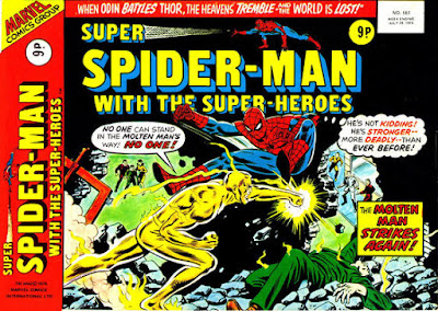 Super Spider-Man with the Super-Heroes #181, the Molten Man
