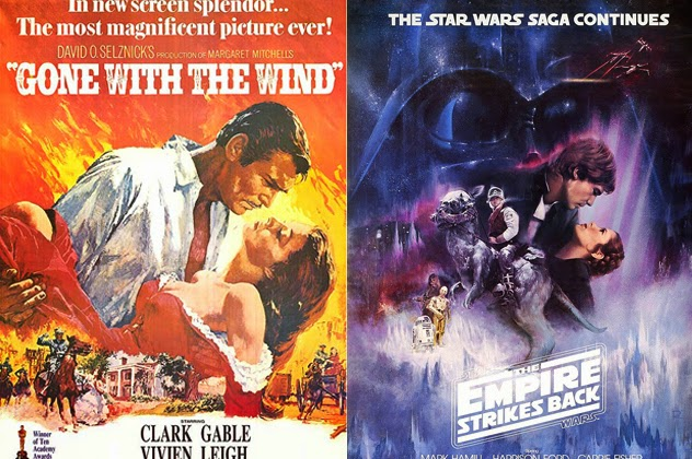 gone with the wind poster comparison to empire strikes back