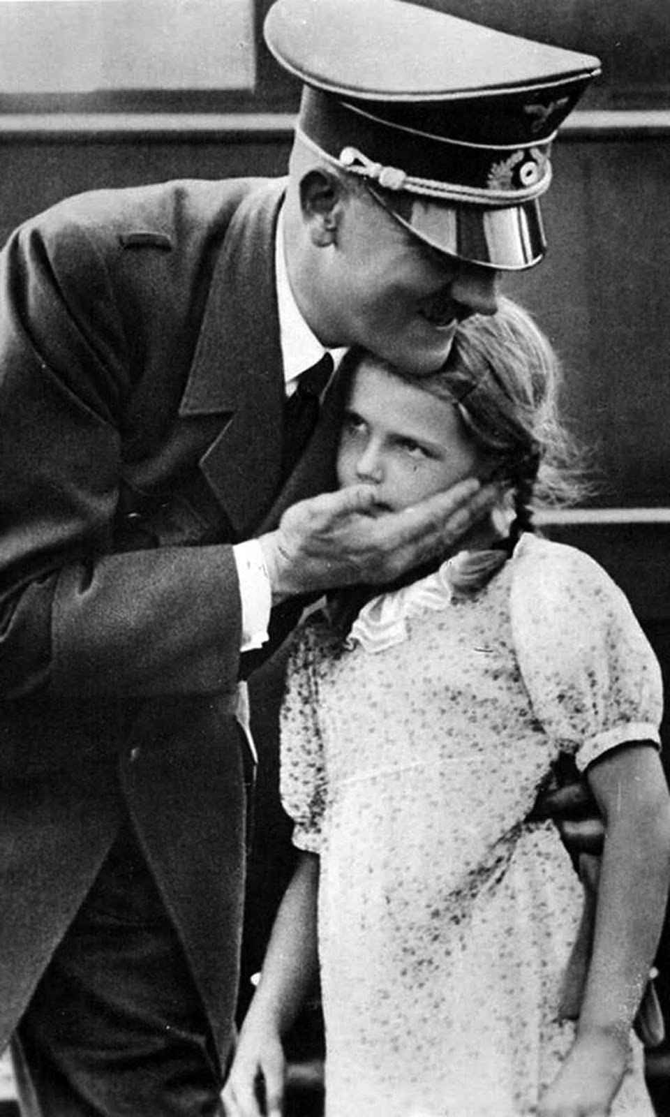 Hitler and Helga Goebbels.