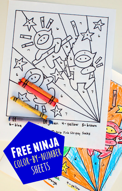 Free Printable Ninja Coloring Sheet!