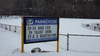 Parmenter School sign