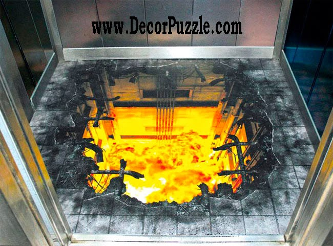 3d floor art murals and self-leveling floor,modern flooring ideas 2018