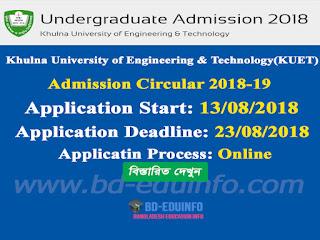 Khulna University of Engineering & Technology(KUET) Admission Test Circular 2018-2019