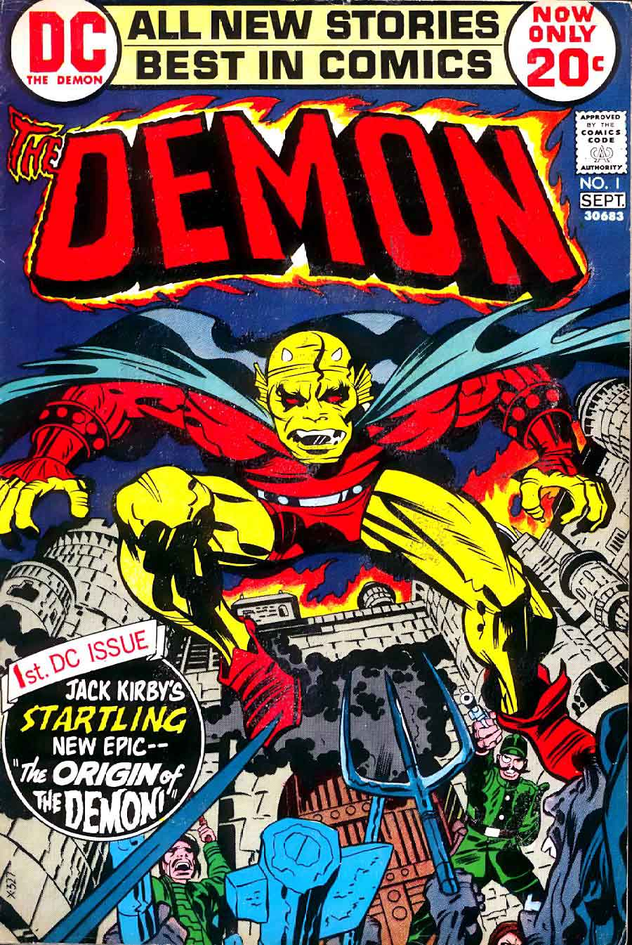 Demon v1 #1 dc bronze age comic book cover art by Jack Kirby