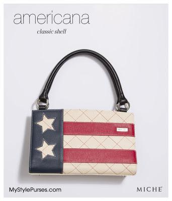 Patriotic Miche Americana Classic Shell from MyStylePurses.blogspot.com
