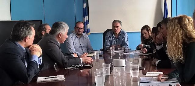 Συνάντηση στο Υπουργείο Εσωτερικών για τον ΦΟΔΣΑ Πελοποννήσου