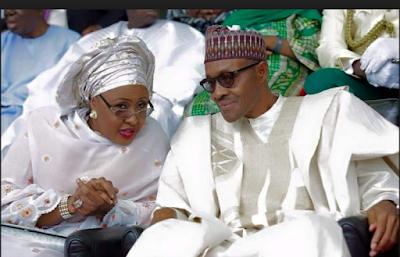 Aisha Buhari  and president Buhari