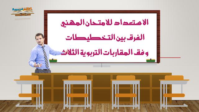 الاستعداد للامتحان المهني- الفرق بين التخطيطات وفق المقاربات التربوية الثلاث - فيديو