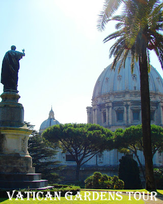 Travel the World:  Touring the Vatican Gardens, one of the lesser known things to do in Vatican City Italy.