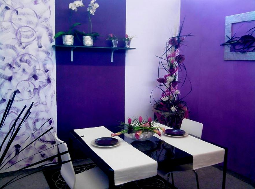 Dining Room Purple Paint Ideas Part - 43: The Dining Room Design Looks A Bit Less Spacious As In The Picture. In This Dining  Room Design You Can Give Purple Paint With Three Variations, ...