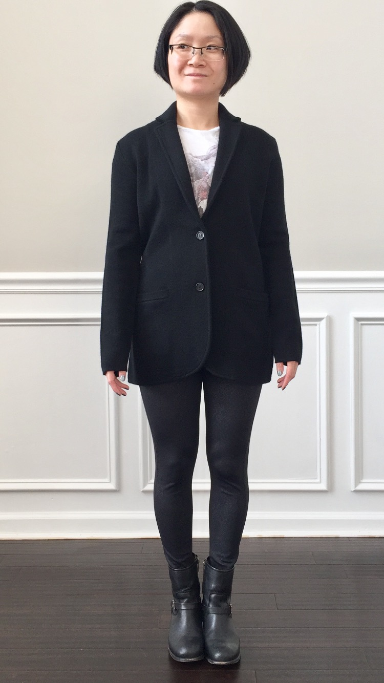 616ec09753e33 For reference I m a size 4 in Lululemon tops and this translates to XXS in J .Crew or PXS. Merino Wool Sweater Blazer ...
