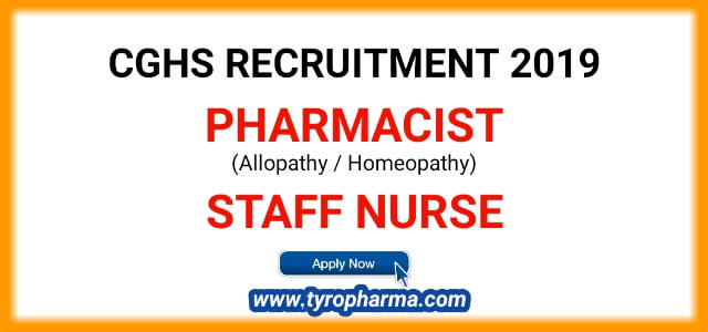 CGHS Recruitment 2019 | Apply for Pharmacist, ANM Government job