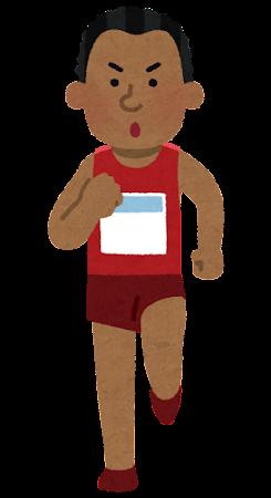 マラソン選手のイラスト(黒人男性)