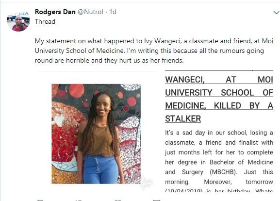 speak%2B7 - Late IVY WANGECHI's classmate speaks and drops a shocker on her alleged boyfriend who killed her, clears HIV rumour.