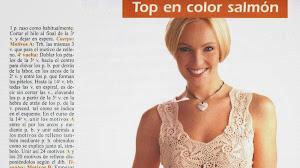 Top color salmón muy femenino - Explicación en Español