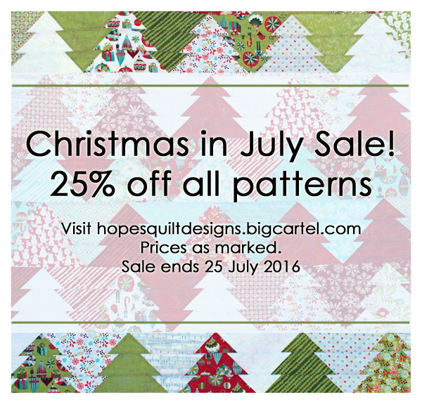 25% off all patterns at hopesquiltdesigns.bigcartel.com