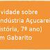 Atividade sobre A Indústria Açucareira (História, 7º ano) com Gabarito