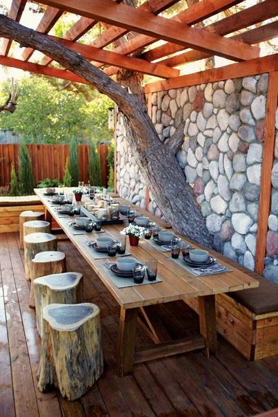 โต๊ะทานอาหารแบบธรรมชาติ